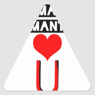 Magnet with loving lovers - Word games Triangle Sticker