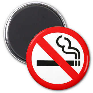 Magnet with no smoking sign