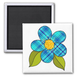 Magnet with patterned flower