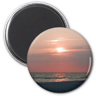 magnet with photo of beautiful sunset