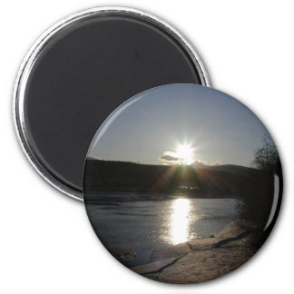 magnet with photo of Yukon River