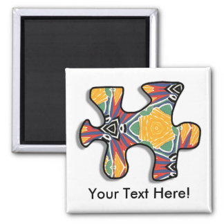 Magnet with Puzzle Piece Image
