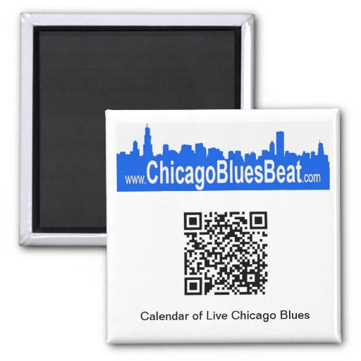 Magnet with QR code for Blues Calendar