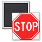 Magnet with stop sign