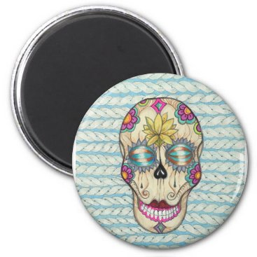 Halloween Themed Magnet with sugar skull