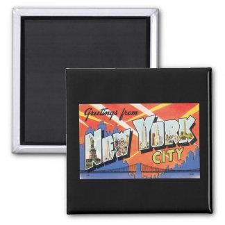 Magnet with Vintage New York City Poster Design