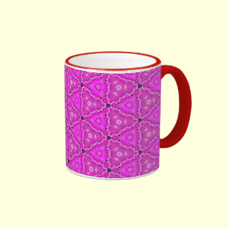 Magneta Triangle Lace Quartz Quilt Mug