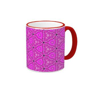 Magneta Triangle Lace Quartz Quilt Ringer Mug