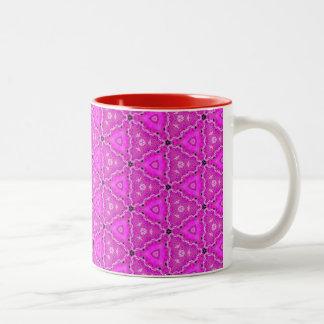 Magneta Triangle Lace Quartz Quilt Two-Tone Coffee Mug
