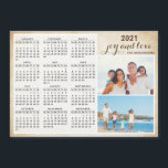 "Magnetic 2021 Calendar Custom Photo<br><div class=""desc"">This magnetic photo calendar for the 2021 year is easy to personalize with your family name and pictures. Use the template to customize it with ease. The vintage background and brown text make it stylish. It's a practical gift idea or a keepsake for Christmas,  New Year,  or any occasion.</div>"