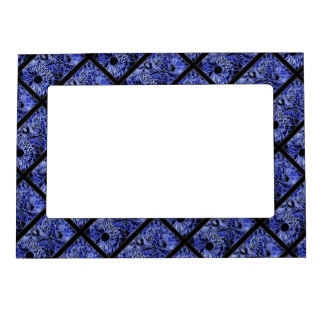 Magnetic 5x7  Frame with Blue Sunflower Design