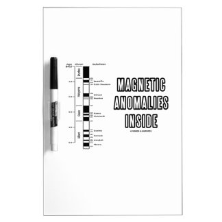 Magnetic Anomalies Inside (Geomagnetic Polarity) Dry-Erase Board