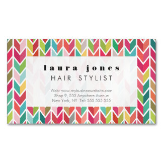 Magnetic Aztec Arrows Pattern Business Card