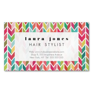 Aztec Themed Magnetic Aztec Arrows Pattern Business Card