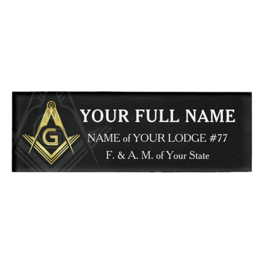 Masonic Name Badge