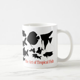 Magnetic cup 2 of shadow picture of tropical fish