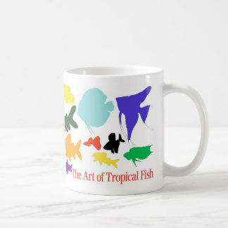 Magnetic cup of shadow picture of tropical fish