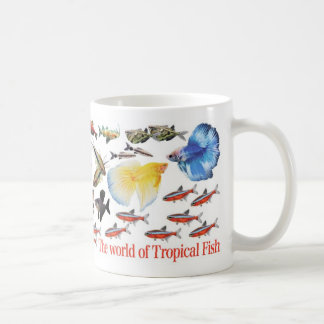 Magnetic cup of small-sized tropical fish classic white coffee mug