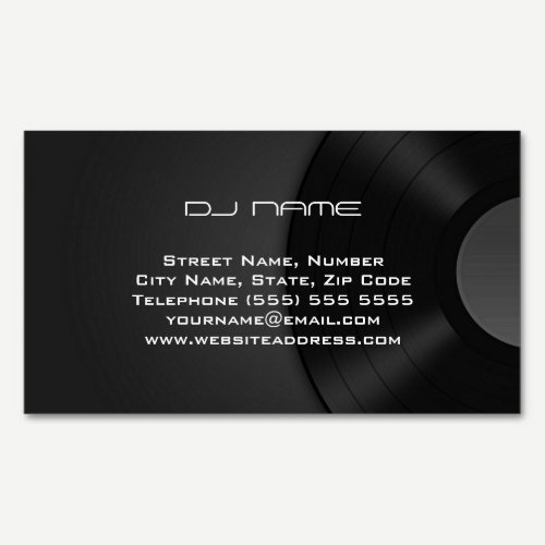 Magnetic DJ Business Card