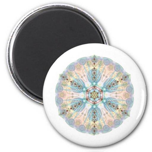 Magnetic Energy Mandala Fridge Magnet
