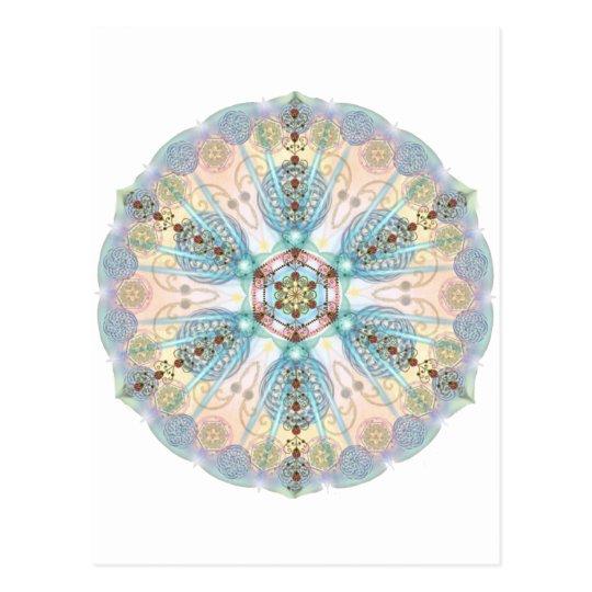 Magnetic Energy Mandala Postcard