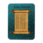 Magnetic Family Birthday Reminder - Customize Flexible Magnets