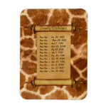 Magnetic Family Birthday Reminder - Customize Rectangle Magnets