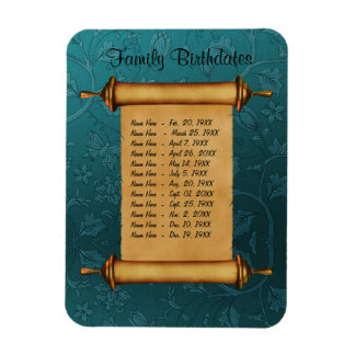 Magnetic Family Birthday Reminder - Customize Rectangular Photo Magnet