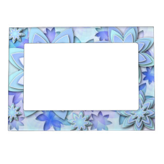 Magnetic Frame abstract lotus flower