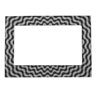 Magnetic Frame  Circular Wave in Monochrome