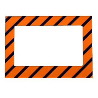 Magnetic Frame Dark Blue-Orange Stripes