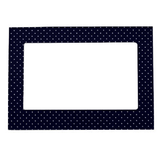 Magnetic Frame Dark Blue with White Dots
