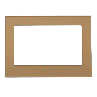 Magnetic Frame Gold with Orange Dots