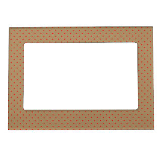 Magnetic Frame Gold with Red Dots