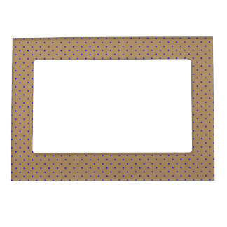 Magnetic Frame Gold with Royal Blue Dots