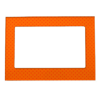 Magnetic Frame Orange with Red Dots