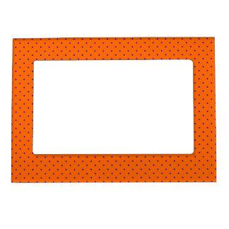 Magnetic Frame Orange with Royal Blue Dots