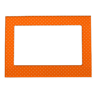 Magnetic Frame Orange with White Dots