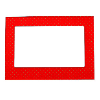 Magnetic Frame Red with Golden Dots