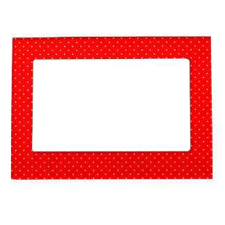 Magnetic Frame Red with White Dots