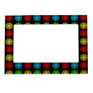 Magnetic Frame - RGBY Retro Daisy