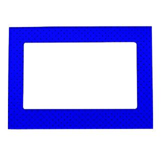 Magnetic Frame Royal Blue with Dark Blue Dots