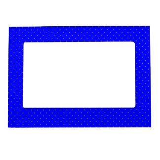 Magnetic Frame Royal Blue with Golden Dots
