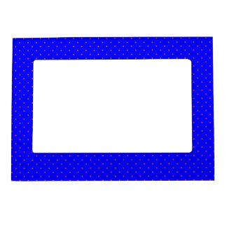 Magnetic Frame Royal Blue with Orange Dots