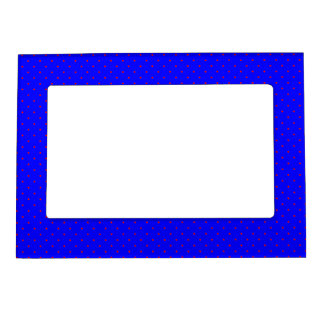 Magnetic Frame Royal Blue with Red Dots