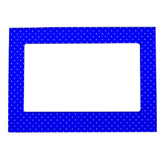 Magnetic Frame Royal Blue with White Dots