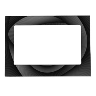 Magnetic Frame  Spiral Labyrinth in Monochrome