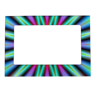 Magnetic Frame  Star in Turquoise Blue and Pink