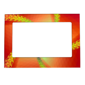 Magnetic Frame Whirligig in Red and Yellow