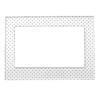 Magnetic Frame White with Dark Blue Dots